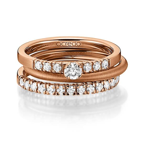 Verlobungsring Diamantring 0,27 ct. tw, si Weißgold 750