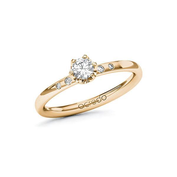 Verlobungsring Diamantring 0,28 ct. tw, si Roségold 585