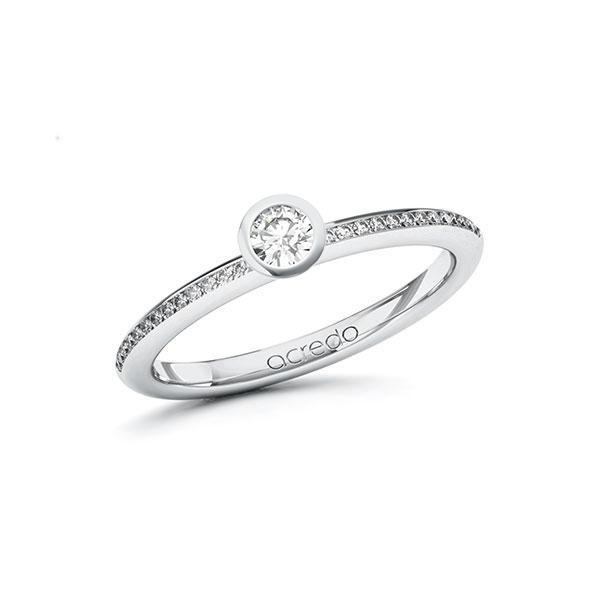 Verlobungsring Diamantring 0,28 ct. tw, si Weißgold 585