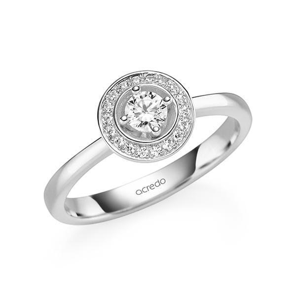Verlobungsring Diamantring 0,29 ct. tw, si Weißgold 585