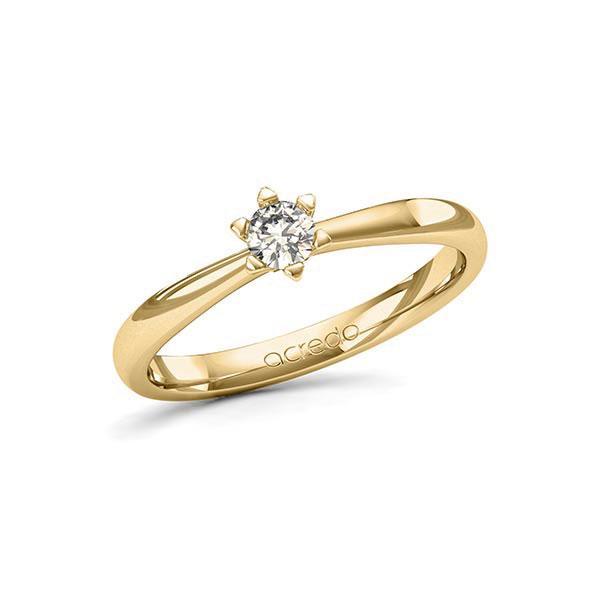 Verlobungsring Diamantring 0,2 ct. tw, si Gelbgold 585