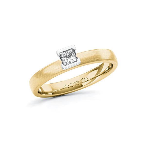 Verlobungsring Diamantring 0,2 ct. tw, si Gelbgold 585 Weißgold 585