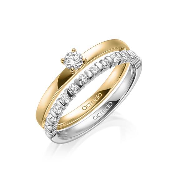 Verlobungsring Diamantring 0,2 ct. tw, si Gelbgold 750