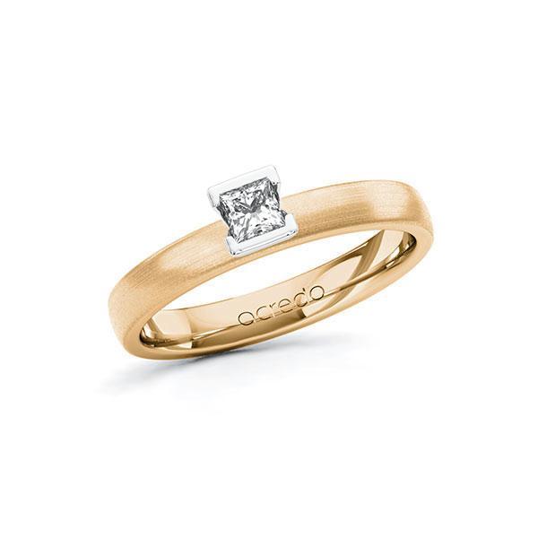 Verlobungsring Diamantring 0,2 ct. tw, si Roségold 585 Weißgold 585