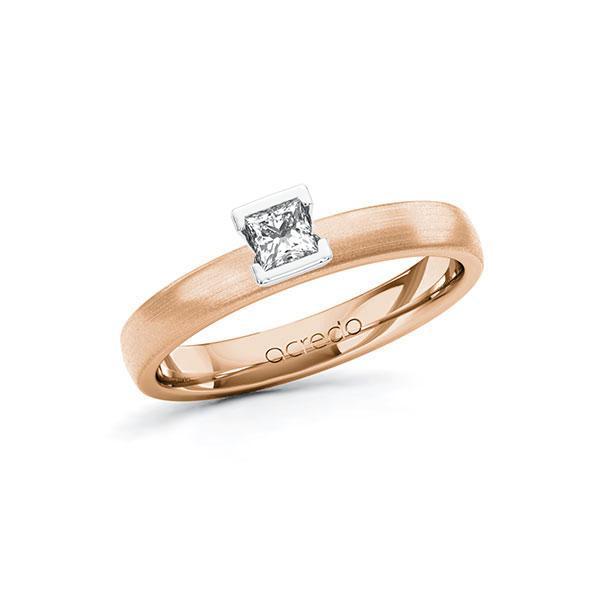 Verlobungsring Diamantring 0,2 ct. tw, si Rotgold 585 Weißgold 585