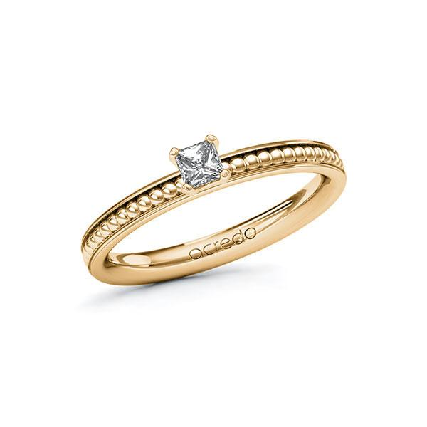 Verlobungsring Diamantring 0,2 ct. tw, vs Roségold 585