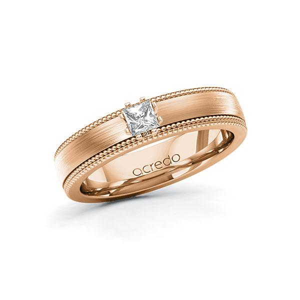 Verlobungsring Diamantring 0,2 ct. tw, vs Rotgold 585