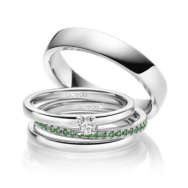 Verlobungsring Diamantring 0,2 ct. tw, vs Weißgold 585