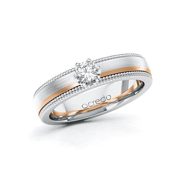 Verlobungsring Diamantring 0,2 ct. tw, vs Weißgold 585 Rotgold 585