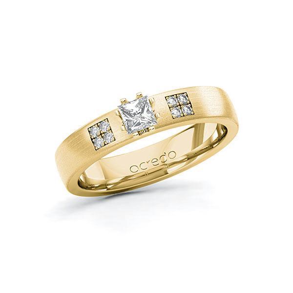 Verlobungsring Diamantring 0,314 ct. tw, si Gelbgold 585