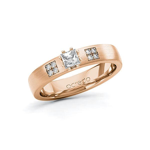 Verlobungsring Diamantring 0,314 ct. tw, si Rotgold 585