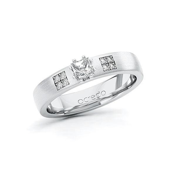 Verlobungsring Diamantring 0,314 ct. tw, si Weißgold 585
