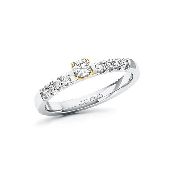 Verlobungsring Diamantring 0,31 ct. tw, si Weißgold 585 Gelbgold 585