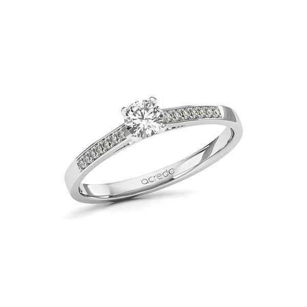 Verlobungsring Diamantring 0,32 ct. tw, si Weißgold 585