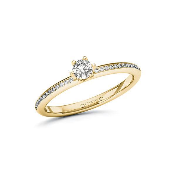 Verlobungsring Diamantring 0,33 ct. tw, si Gelbgold 585