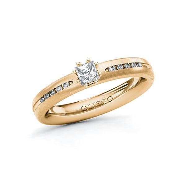 Verlobungsring Diamantring 0,33 ct. tw, si Roségold 750