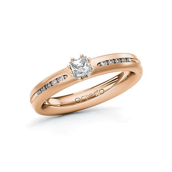 Verlobungsring Diamantring 0,33 ct. tw, si Rotgold 750