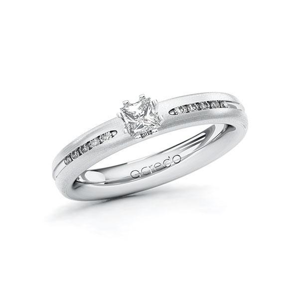 Verlobungsring Diamantring 0,33 ct. tw, si Weißgold 750