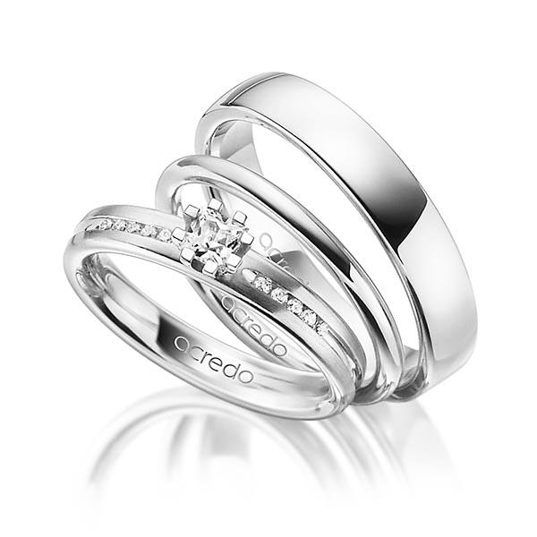 Verlobungsring Diamantring 0,33ct. tw, si Weißgold 585 Roségold 585