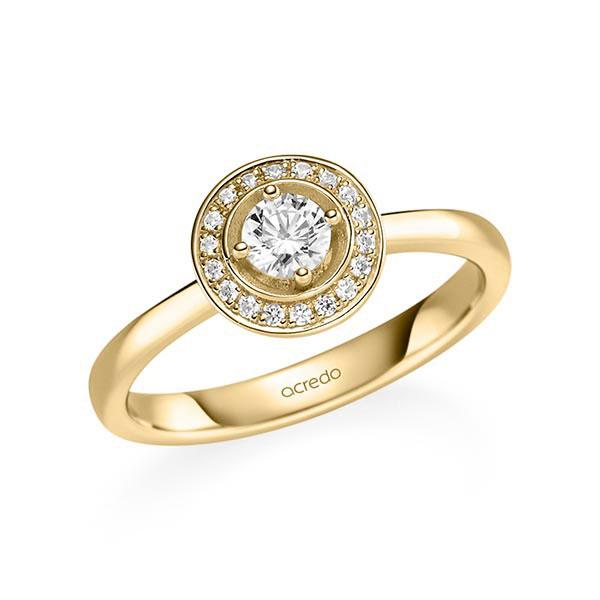 Verlobungsring Diamantring 0,34 ct. tw, si Gelbgold 585