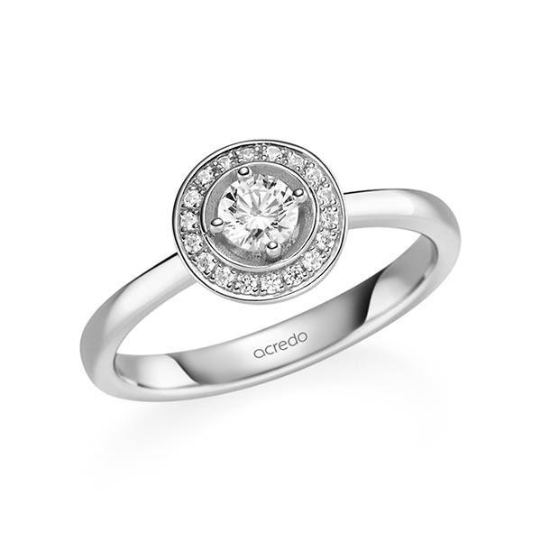 Verlobungsring Diamantring 0,34 ct. tw, si Weißgold 585