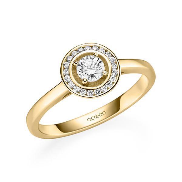 Verlobungsring Diamantring 0,355 ct. tw, si Gelbgold 585