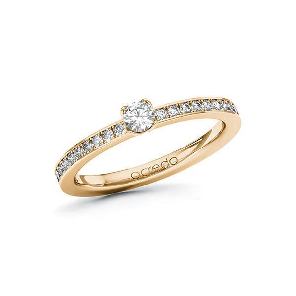 Verlobungsring Diamantring 0,35 ct. tw, si Roségold 585