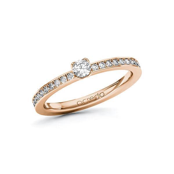 Verlobungsring Diamantring 0,35 ct. tw, si Rotgold 585