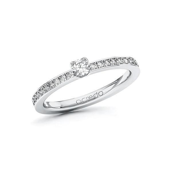 Verlobungsring Diamantring 0,35 ct. tw, si Weißgold 585