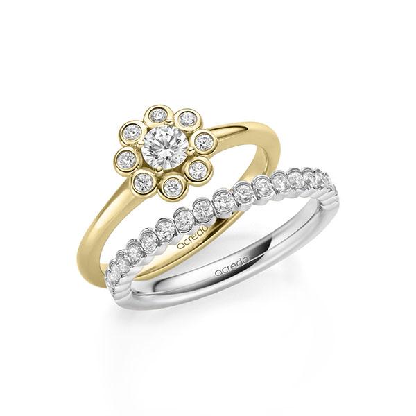 Verlobungsring Diamantring 0,37 ct. tw, si Gelbgold 585
