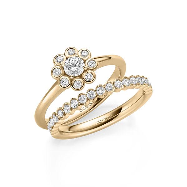 Verlobungsring Diamantring 0,37 ct. tw, si Roségold 585