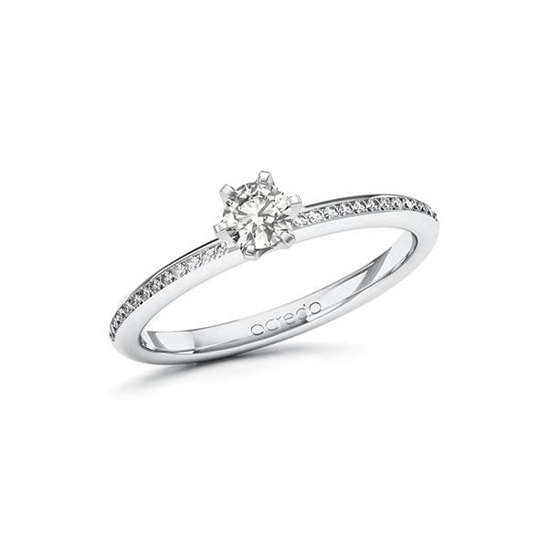Verlobungsring Diamantring 0,38 ct. tw, si Weißgold 585