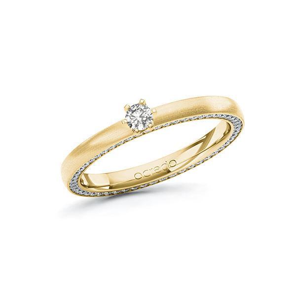 Verlobungsring Diamantring 0,39 ct. tw, si Gelbgold 585
