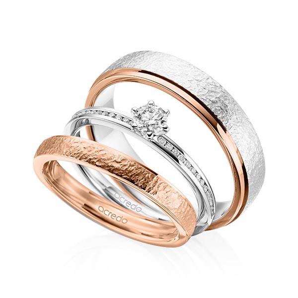 Verlobungsring Diamantring 0,39 ct. tw, si Weißgold 585