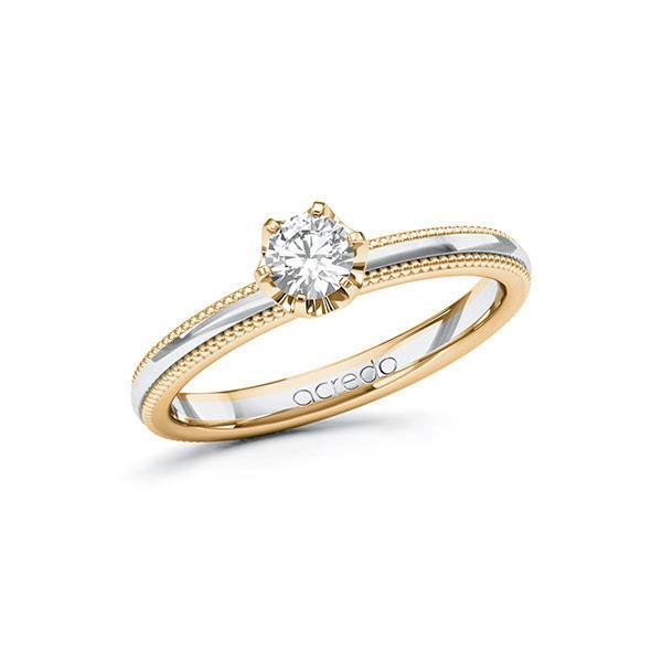 Verlobungsring Diamantring 0,3 ct. G SI Roségold 585 Weißgold 585
