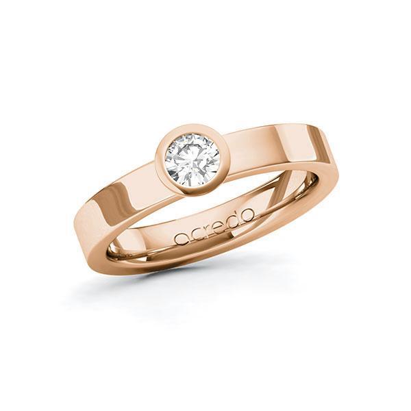 Verlobungsring Diamantring 0,3 ct. G SI Rotgold 585