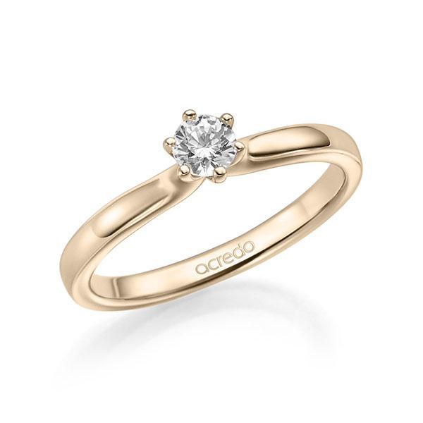 Verlobungsring Diamantring 0,3 ct. G SI Signature Gold 585