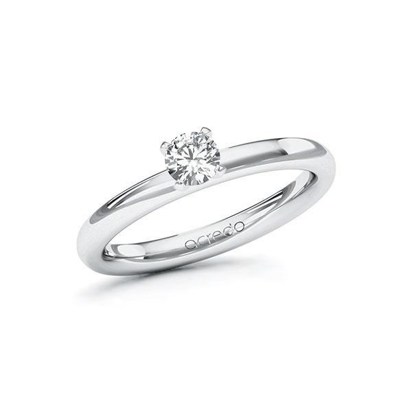 Verlobungsring Diamantring 0,3 ct. G SI Weißgold 585