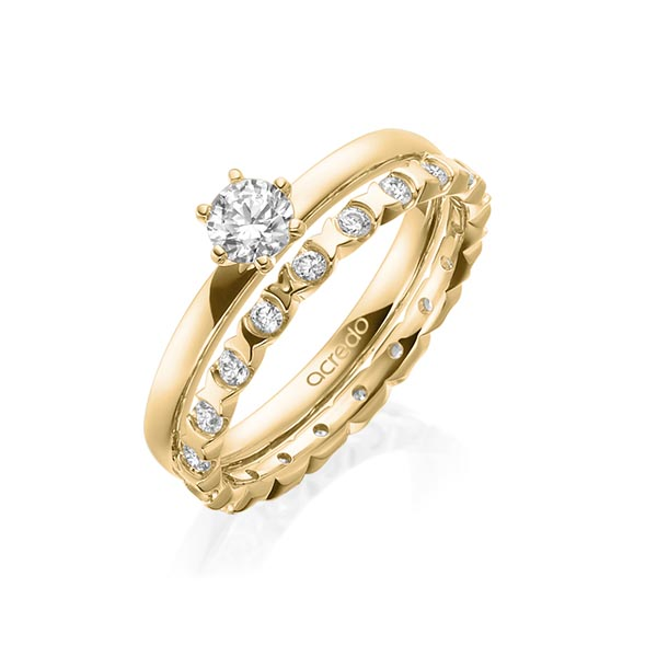Verlobungsring Diamantring 0,3 ct. G VS Gelbgold 750