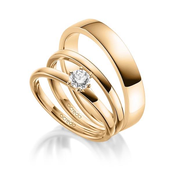 Verlobungsring Diamantring 0,3 ct. G VS Roségold 585