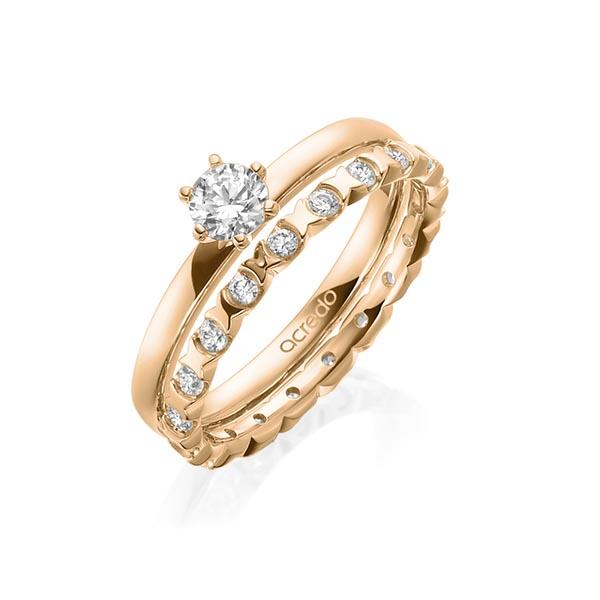 Verlobungsring Diamantring 0,3 ct. G VS Roségold 750