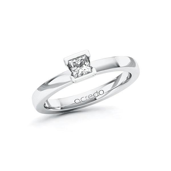 Verlobungsring Diamantring 0,3 ct. G VS Weißgold 585
