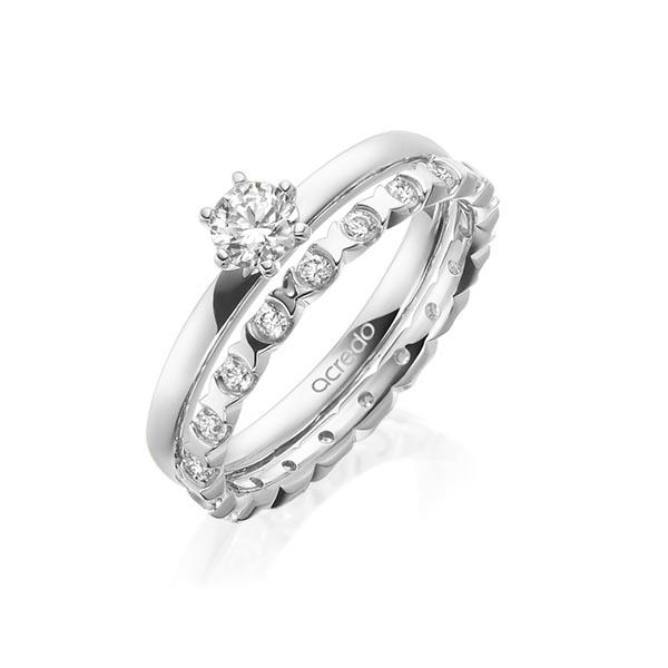 Verlobungsring Diamantring 0,3 ct. G VS Weißgold 750