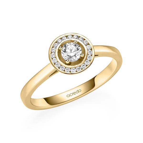 Verlobungsring Diamantring 0,3 ct. tw, si Gelbgold 585