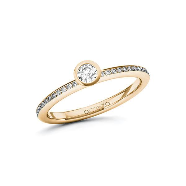 Verlobungsring Diamantring 0,3 ct. tw, si Roségold 585