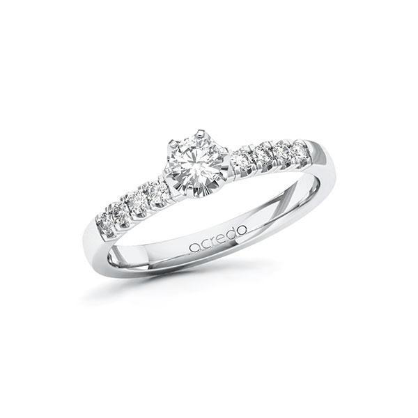 Verlobungsring Diamantring 0,41 ct. tw, si Weißgold 585