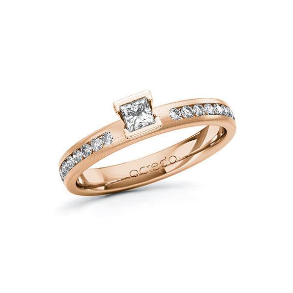 Verlobungsring Diamantring 0,44 ct. tw, si Rotgold 585