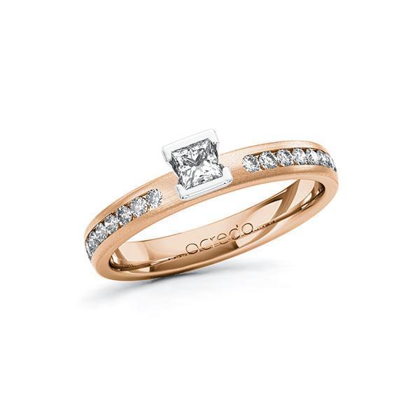 Verlobungsring Diamantring 0,44 ct. tw, si Rotgold 585 Weißgold 585