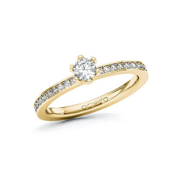 Verlobungsring Diamantring 0,45 ct. tw, si Gelbgold 585