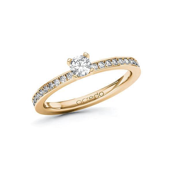 Verlobungsring Diamantring 0,45 ct. tw, si Roségold 585